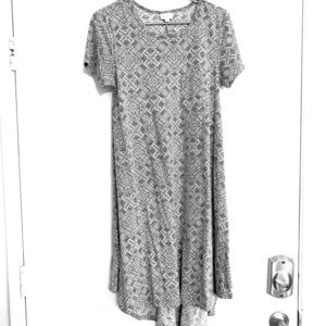 Grey and white swing dress